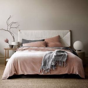 Luxury Velvet Quilt Cover | Rosewater | by Aura Home