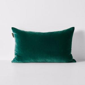 Luxury Velvet Rectangle Cushion | Forest Night | By Aura Home