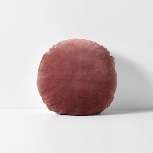 Luxury Velvet Round Cushion | Mahogany by Aura Home