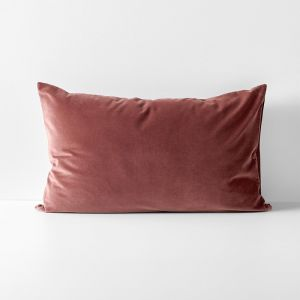 Luxury Velvet Standard Pillowcase | Mahogany by Aura Home