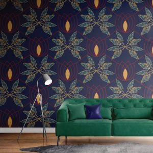 Lydia - Nature's Glamour | Eco Wallpaper | Blue | Amba Florette