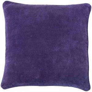 Lynette Velvet Cushion  Grape   Medium