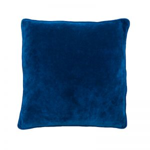 Lynette Velvet Cushion | Indigo | Large