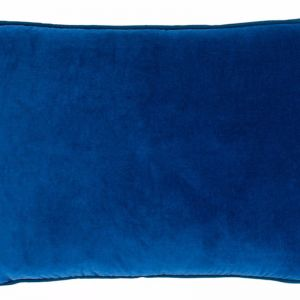 Lynette Velvet Cushion | Indigo | Rectangle
