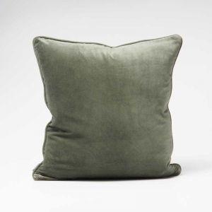 Lynette Velvet Cushion   Khaki