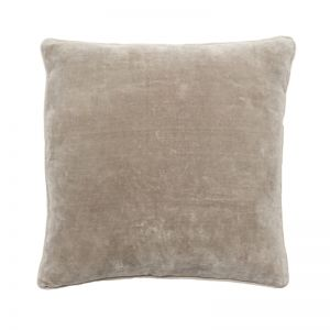 Lynette Velvet Cushion   Natural   Large
