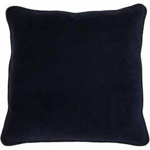 Lynette Velvet Cushion | Navy | Medium