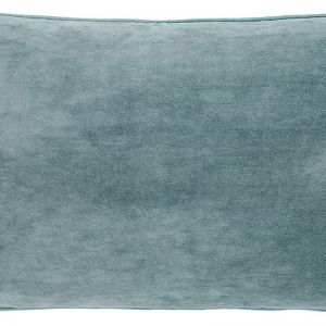 Lynette Velvet Cushion | Sea Mist | Rectangle