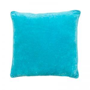 Lynette Velvet Cushion | Turquoise | Large