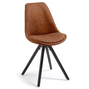 Lyra Dining Chair | Rust Brown
