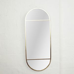 Lysha Oval Brass Mirror
