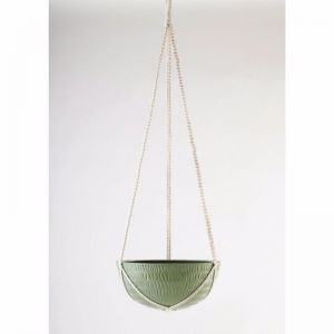 Macrame Hanging Planter | Olive Green | Large by Angus & Celeste