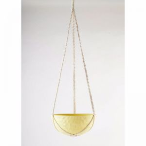 Macrame Hanging Planter | Yellow | Large by Angus & Celeste