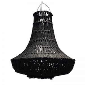 Macrame Rope Chandelier | Black | by Raw Decor