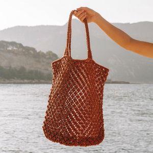 Macrame Tote Bag | Rust
