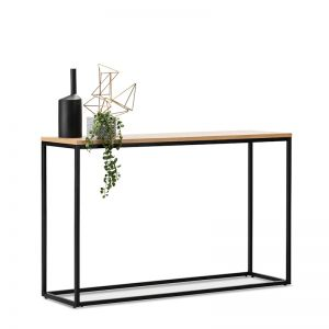 Macy Oak Console Table | Black