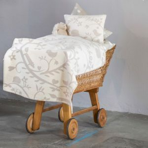 Made With Love Ecru Baby Bassinet Blanket