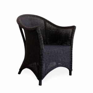 Madison Rattan Arm Chair | Black | By Black Mango