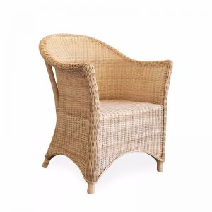 Madison Rattan Arm Chair | Natural | By Black Mango