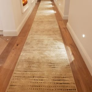 Madrid Beige Dots Hall Runner | Customized Length