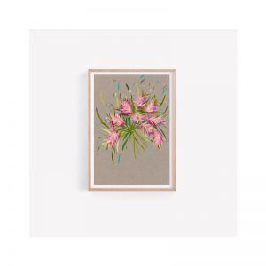 Maggie | Australian Native Flower Bottle Brush Bouquet | Fine Art Print