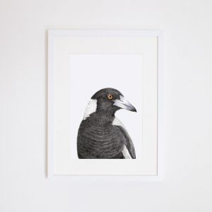 Maggie the Magpie Giclee Print | by For Me By Dee