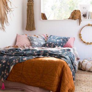 Magnolia Clique Set   Throw & Cushion   by Amigos de Hoy   Blue