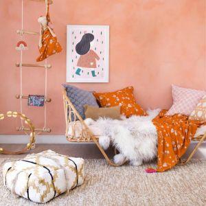Magnolia Clique Set   Throw & Cushion   by Amigos de Hoy   Orange