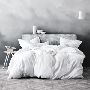 Maison Fringe Quilt Cover | White by Aura Home
