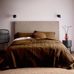 Maison Vintage Bed Cover | Tobacco | by Aura Home