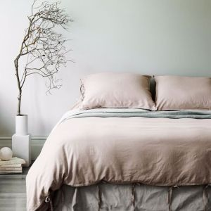 Maison Vintage Quilt Cover | Nude | by Aura Home