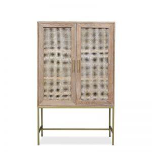Mala Cabinet   Timber and Rattan
