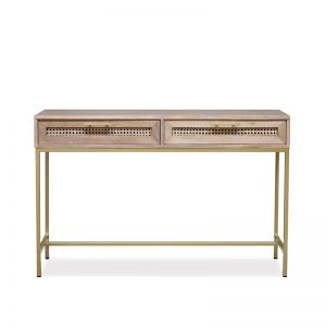 Mala Console | Timber and Rattan