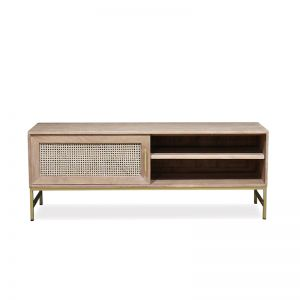 Mala TV Unit with Sliding Door | Timber and Rattan