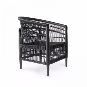 Malawi Club Chair | Black | by Black Mango | Pre-Order