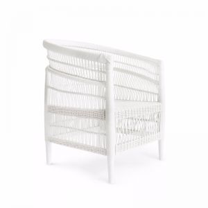Malawi Club Chair | White | by Black Mango