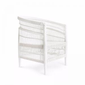 Malawi Club Chair | White | by Black Mango