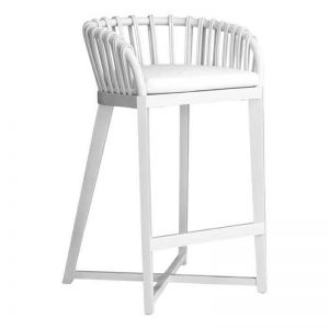 Malawi Tub Barstool | White | by Uniqwa Furniture