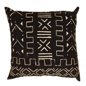 Mali Mud Cloth Cushion Cover | Black | by Raw Decor