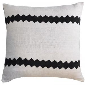 Mali Mud Cloth Cushion Cover | White and Black | by Raw Decor