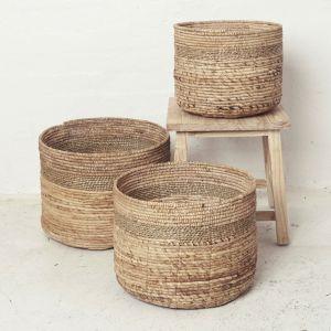 Malik Banana Leaf Trim Seagrass Basket l Pre Order