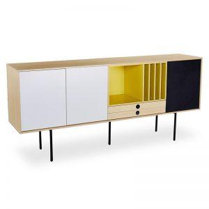 Malika Sideboard | 1.8M | Maple White/Yellow & Black