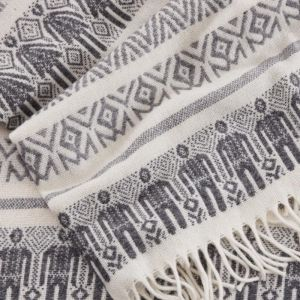 Man & Wife Blanket | Grey and White