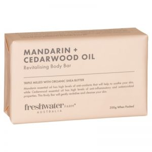 Mandarin + Cedarwood Oil Revitalising Body Bar | 200g