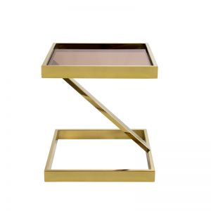 Manhattan Gold Side Table | Tinted Glass