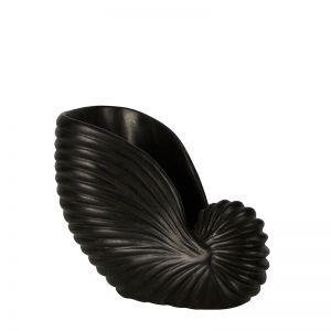 Marble Conch Shell | Medium | Black