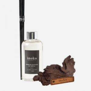 Marble Diffuser Vessel & Diffuser Oil Refill | Leather & Oud