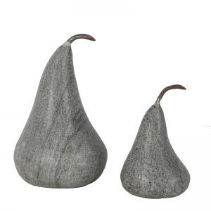 Marble Pear Large   Black