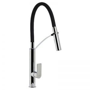 Marbletrend Sardina Flexi-hose Sink Mixer Black