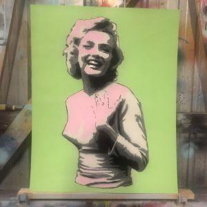 Marilyn (Green) by Steve Hamilton | Original Artwork | Art Lovers Australia